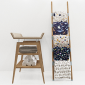 Linea Changing Table & Decorative Ladder