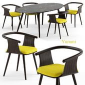 Yuumi chair and Ademar table - Bross Italy
