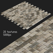 Тротуарная плитка. 20 текстур