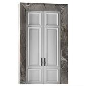 Межкомнатные распашные двери в белом цвете