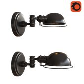 ACADEMY TASK SCONCE - OIL RUBBED BRONZE