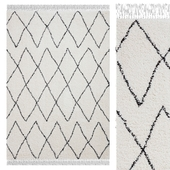 Carpet Think Rugs Boho 8280 White / Black