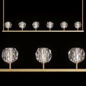 Restoration Hardware BOULE DE CRISTAL LINEAR CHANDELIER 60 Brass