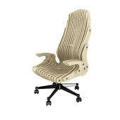 Cnc parametric office plywood chair