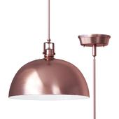 Светильник Southlake 1 Light Bowl Pendant brushed cuper
