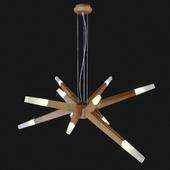 Suspended chandelier Wooden Glowworm Star