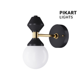 Dome sconce # 3 art. 6252 by Pikartlights