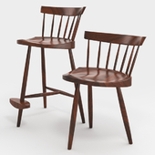 chair - Mira - by Nakashima