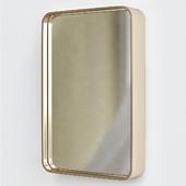Oslo mirror brass
