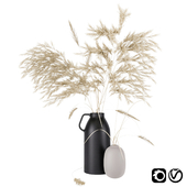 Vases set by H&M with pampas grass