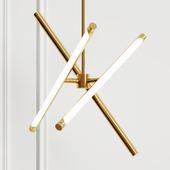 Hanging designer lamp Karol from Romatti