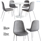 Jysk/LYSTRUP Chair + RINGSTED Table