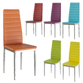 Multi-colored chairs Signal H-261 chrome