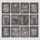 Cafe chalkboards