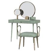 Mirror Light Espresso Vanity Table