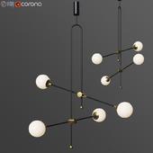 XYZ Chandelier Unique Minimalist Pendant Lamp