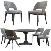 Minotti Owens стулья и стол Neto