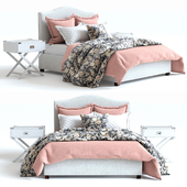 Pottery Barn Raleigh Bed 3 pink