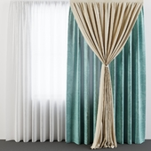 Curtain with assembly