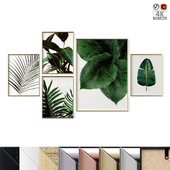 "Poster Set ""Green Leaves"""