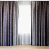 Curtains 60 | Curtains with tulle