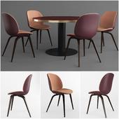 GUBI Beetle Dining Chair & GUBI 2.0 Dining Table
