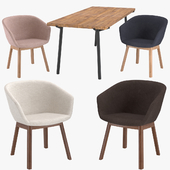 Blu Dot Host Dining Chair & Branch Dining Table