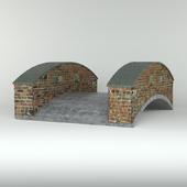 Мостик бетонный кирпичный