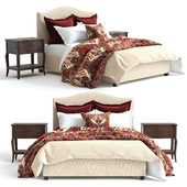 Pottery Barn Raleigh Bed 2 red