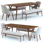 West Elm Mid Century Table and Chairs