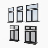Schuco AWS 65 aluminum windows - set 1
