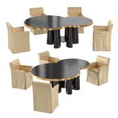 Central Tabke & Dressed Chair