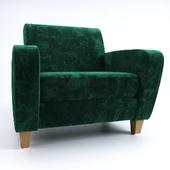 Вельветовое кресло