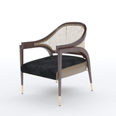 Modern Bentley Chair in Rosewood and Woven Cane