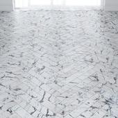 White Marble Floor Tiles in 2 types
