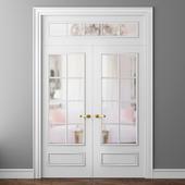 Двери Волховец Париж 8133 и 8112 двустворчатая