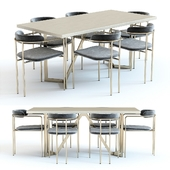 West Elm Cast Tower Table and Chairs