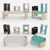 Pedrali Complement Parenthesis table set