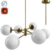 Caserti Modern Pendant Light Chandelier - Satin Brass