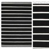 Carpet CarpetVista Dhurrie Stripe - Black / White CVD5207