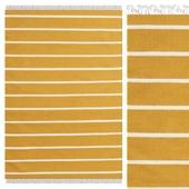 Carpet CarpetVista Dhurrie Stripe - Mustard Yellow CVD19165