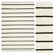 Carpet CarpetVista Dhurrie Stripe - White / Black CVD1663