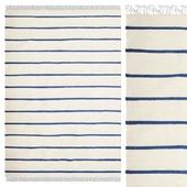 Carpet CarpetVista Dhurrie Stripe - White / Blue CVD16269