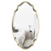 Blaisdell Horizontal Gold Wall Mirror WRLO8574