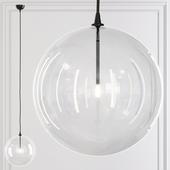 Restoration Hardware Glass Globe Mobile Pendant 14 Black