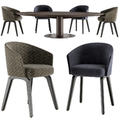 Minotti Bellagio Table and Creed Dining chair