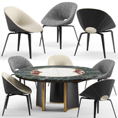 Tanya chair and Jason round table - Visionnaire