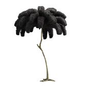 Декорация из страусиных перьев