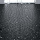 Black Marble Floor Tiles in 2 types