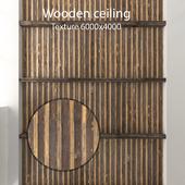 Деревянный потолок с балками 09